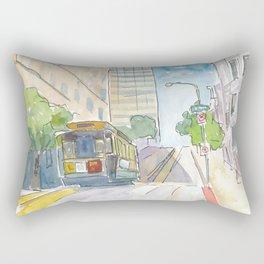 San Francisco Cable Car View Rectangular Pillow