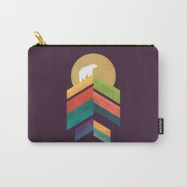 Lingering mountain with golden moon Carry-All Pouch
