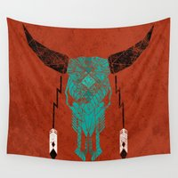 southwest Wall Tapestries featuring Southwest Skull by Verreaux