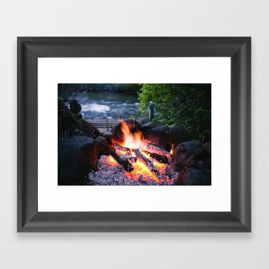 River & Fire Framed Art Print