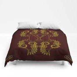 Monogram Y seahorse Comforters
