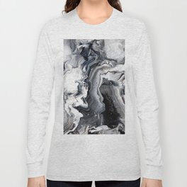 Marble B/W/G Long Sleeve T-shirt