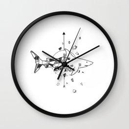Shark Break Wall Clock