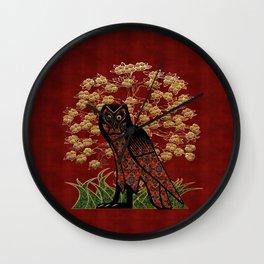 Owl Tapestry Wall Clock