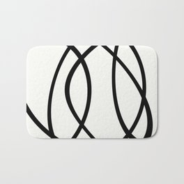 Community - Black and white abstract Bath Mat