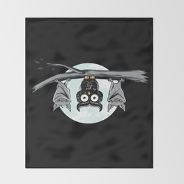 Cute Owl With Friends Throw Blanket