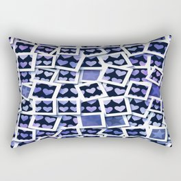 I Love You This Much Blue Rectangular Pillow