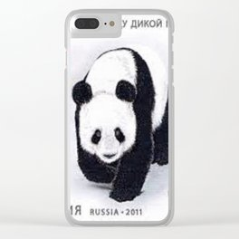 Stamp on Panda Clear iPhone Case