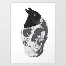 Bunny's new home Art Print