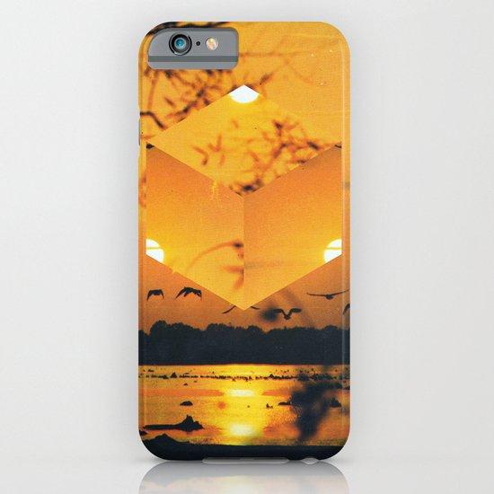 Hexagon Sunset iPhone & iPod Case
