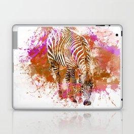 Crazy Zebra paint splatter artwork Laptop & iPad Skin