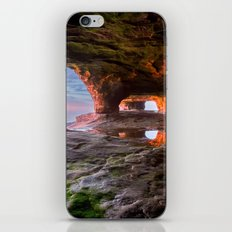 Sea Cave Sunset on Lake Superior iPhone & iPod Skin