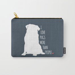 I Love Pugs Carry-All Pouch
