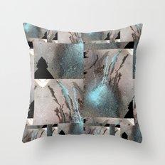 Half blue Throw Pillow