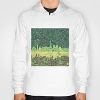 paris map Hoodies featuring Paris by Bekim ART