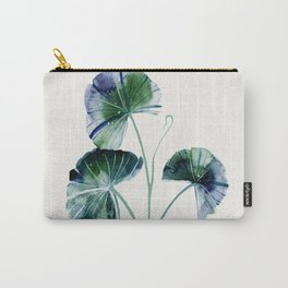 Water lily leaves Carry-All Pouch