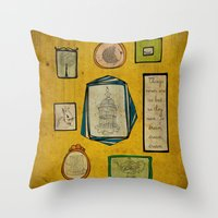frames Throw Pillows featuring Frames by Duru Eksioglu