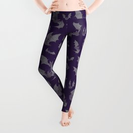 Bats Purple Leggings