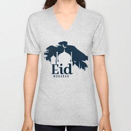 Eid Mubarak print for kids, Ramadan Kareem Banner graphic Unisex V-Neck