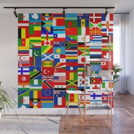 Flag Montage Wall Mural