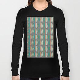 Contemporary Mid-Century Modern Geometric Pattern Long Sleeve T-shirt