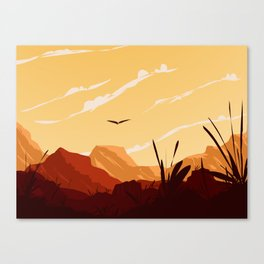 West Texas Landscape Canvas Print