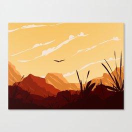 West Texas Landscape Canvas Print
