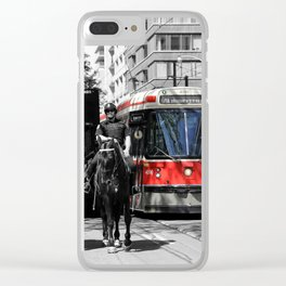 Red Rocket 31c Clear iPhone Case