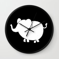 White Elephant  Wall Clock