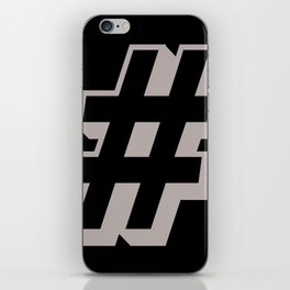 Big Hashtag iPhone Skin
