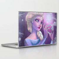 frozen elsa Laptop & iPad Skins featuring Elsa by Red Red Telephone