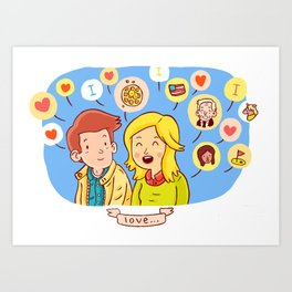 Ben and Leslie Art Print