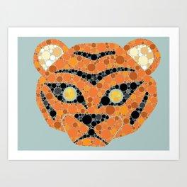 Colourblind Tiger Art Print