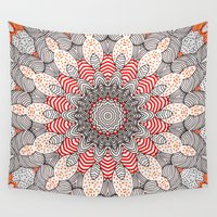 mandala Wall Tapestries featuring manDala by Monika Strigel