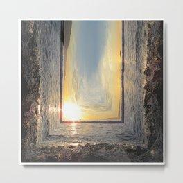 Sunset Angle Metal Print