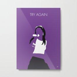 No071 MY Aaliyah Minimal Music poster Metal Print
