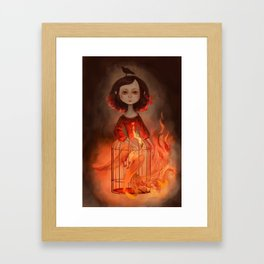 Phoenix Girl Framed Art Print