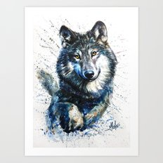 Gray Wolf - Forest King Art Print
