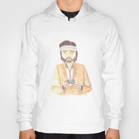 tenenbaum Hoodies featuring Richie Tenenbaum Watercolor by Newspaper Balloon