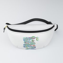 Prismatic Colorful Chinese Dragon Gift Fanny Pack