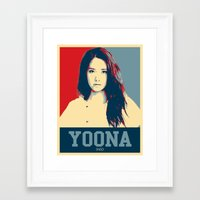 snsd Framed Art Prints featuring Yoona SNSD Hopeless Design by Timeless-Id