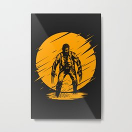Logan Yellow Art Metal Print