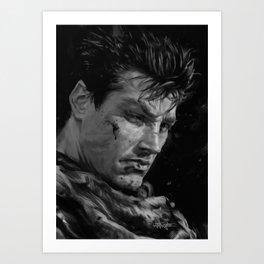 The Black Swordsman Art Print