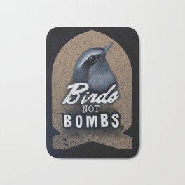 Birds not Bombs Bath Mat