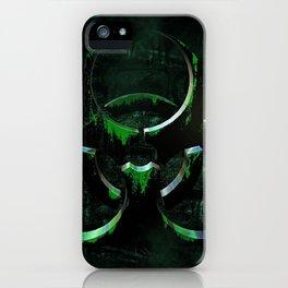 Green Grunge Biohazard Symbol iPhone Case