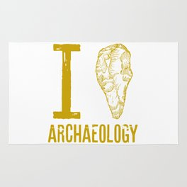 I love archaeology Rug
