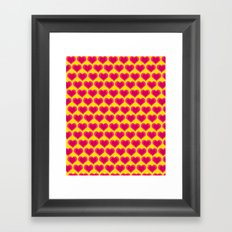 1000 Hearts Framed Art Print