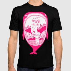 Inside the whale MEDIUM Black Mens Fitted Tee