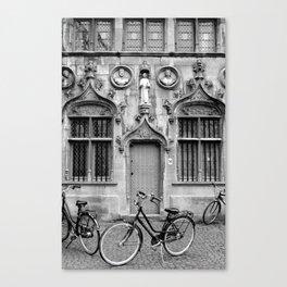 Bruges in Black & White Canvas Print