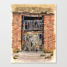 Stable Door Outside Canvas Print